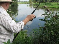 Bob Windsor playing a grilse