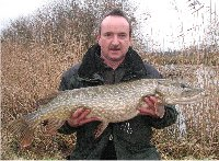 Martin Pollak with a pike