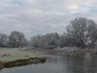 Cold conditions on the river