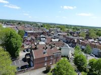 Town from Ringwood church tower